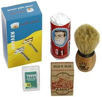 Shaving Set with Shaving Factory Double Edge Safety Razor,