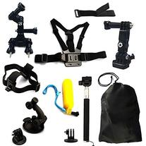 GooKit® Accessories Set Kit 14in1 Chest/Head Strap
