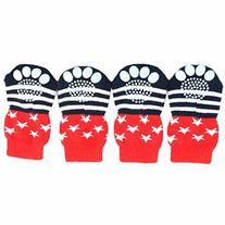 Weixinbuy 4PCS/Set Pet Dogs Cotton Socks Anti-Slip Rubber
