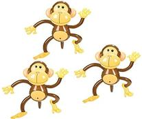 Set of Three Adorable Inflatable 27'' MONKEYS ZOO Party