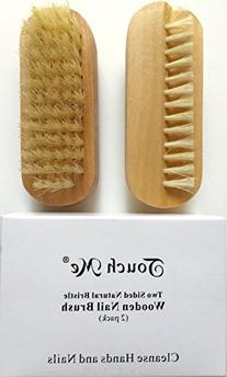 2 pcs/set Touch Me Two sided Natural Boar Bristle Wooden