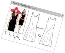 Style Arc Sewing Pattern - Cruise Club Kim Dress - Sizes 4-