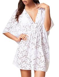 Sexy Women's Floral Lace White Deep V Neck Summer Beach