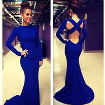 Leshery new sexy women long sleeve prom ball cocktail party dress