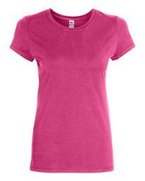 FOL SFJ Ladies Sofspun Junior Fit T-Shirt - Cyber Pink,