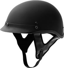 Fuel Helmets SH-HHFL67 HH Series Half Helmet, Flat Black, X-