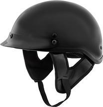 Fuel Helmets SH-HHGL16 HH Series Half Helmet, Gloss Black,