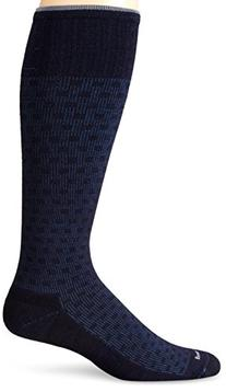 Sockwell Men's Shadow Box Socks, Espresso, Medium/Large