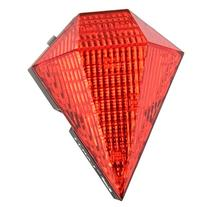 Jewel Shaped 5mW 30LM 3-Mode 8-LED Bicycle Laser Taillight