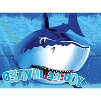 Creative Converting Shark Splash Birthday Party Invitations
