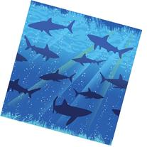 Creative Converting Shark Splash Plastic Tablecover,