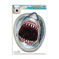 Shark Toilet Topper Peel 'N Place Party Accessory