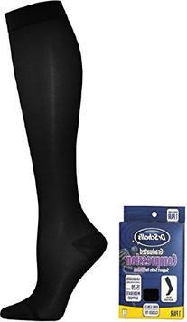 Dr. Scholl's Women's Microfiber Moderate Support Socks,
