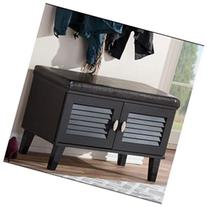 Sheffield 2 Door Cushioned Bench Shoe Storage Cabinet