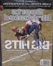 Sheldon Brown autographed Sports Illustrated Magazine