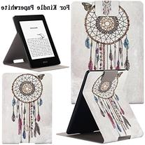 Newshine Case For Kindle Paperwhite,Ultra Slim PU Leather