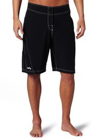 ASICS Men's Shoji Board Short, Black/White, 30