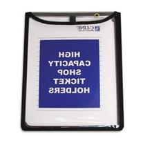 -- Shop Ticket Holders, Stitched, Both Sides Clear, 9 x 12,