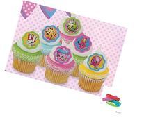 12PCS Shopkins Cake Cupcake Rings Birthday Party Favors