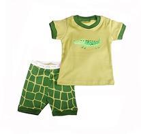 """Green Crocodile "" Boys Short 2 Piece Pajama 100% Cotton"