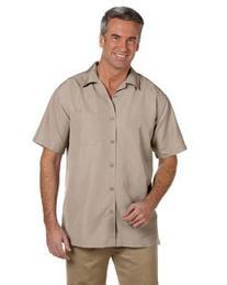 Harriton Men's Short Sleeve Barbados Textured Button Down