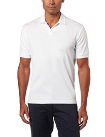 Perry Ellis Men's Short Sleeve Cotton Blend Open Polo,