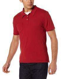 UltraClub Men's Short Sleeve Pocket Polo Shirt