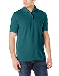 IZOD Men's Short Sleeve Solid Heritage Pique Polo, Dragonfly