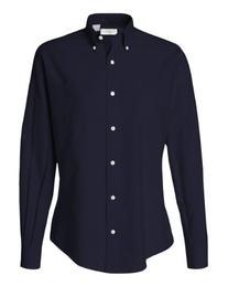 Van Heusen Ladies' Classic Long-Sleeve Oxford S Dark Grey