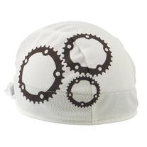 Headsweats Shorty Gears Performance Cycling Skull Cap, White