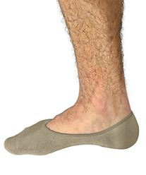 No Show Socks For Men 3pk Quality Cotton Lge Heel Grip Non