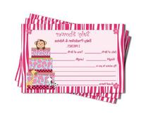 Girl Baby Shower Advice & Prediction Cards for Mom Pink