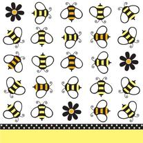 Creative Converting Baby Shower Buzz 18 Count 2-Ply Paper