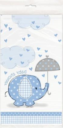 Baby Shower Umbrellaphants Blue Tablecover