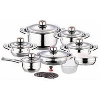 Swiss Inox Si 7000 18 Piece Stainless Steel Cookware Set