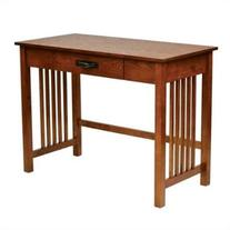 Sierra Writing Desk in Oak FInish with Pull out Drawer and