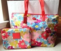 Coach Signature Nylon Weekender Tote Bag Packable Floral