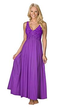 Shadowline Women's Silhouette 53 Inch Sleeveless Long Gown,