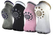 Rbenxia 4 Pair Silicone Dot Cotton Non Slip Skid Yoga