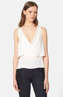 Women's Theory 'Alizay' Silk Top, Size Small - White