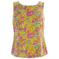 BODEN Women's Silky Vintage Top US Sz 4 Multicolored