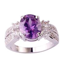 Psiroy Women's 925 Sterling Silver 3ct Natural Amethyst