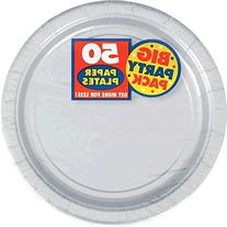 Silver Big Party Pack Dinner Plates,50 plates