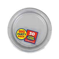 Amscan Big Party Pack 50 Count Paper Dessert Plates, 7-Inch