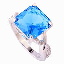 Psiroy Women's 925 Sterling Silver 3cttw Blue Topaz Infinity