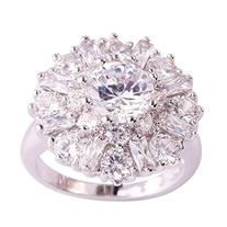 Psiroy Women's 925 Sterling Silver 5cttw CZ Filled Ring