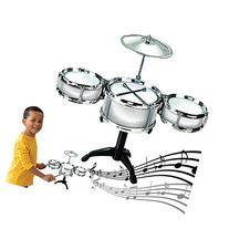 Dazzling Toys Silver Desktop Drum Set Musical Instrument Toy