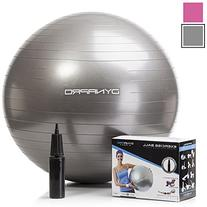 Silver Exercise Ball, GYM QUALITY by DynaPro Direct, More