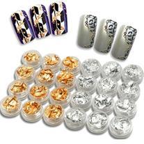 350buy 24 x Silver & Golden Foil Set Kit for Nail Art