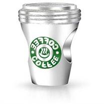 Bling Jewelry 925 Sterling Silver Coffee Cup Charm Bead